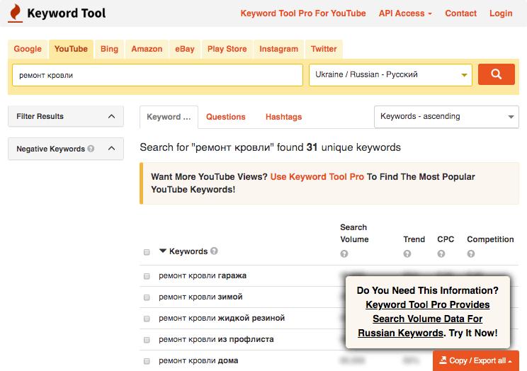 Сервис для подбора поисковых подсказок
